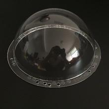 Caja cúpula para cámara CCTV de 9 pulgadas, accesorios para interior/exterior, acrílico transparente, cctv, ptz
