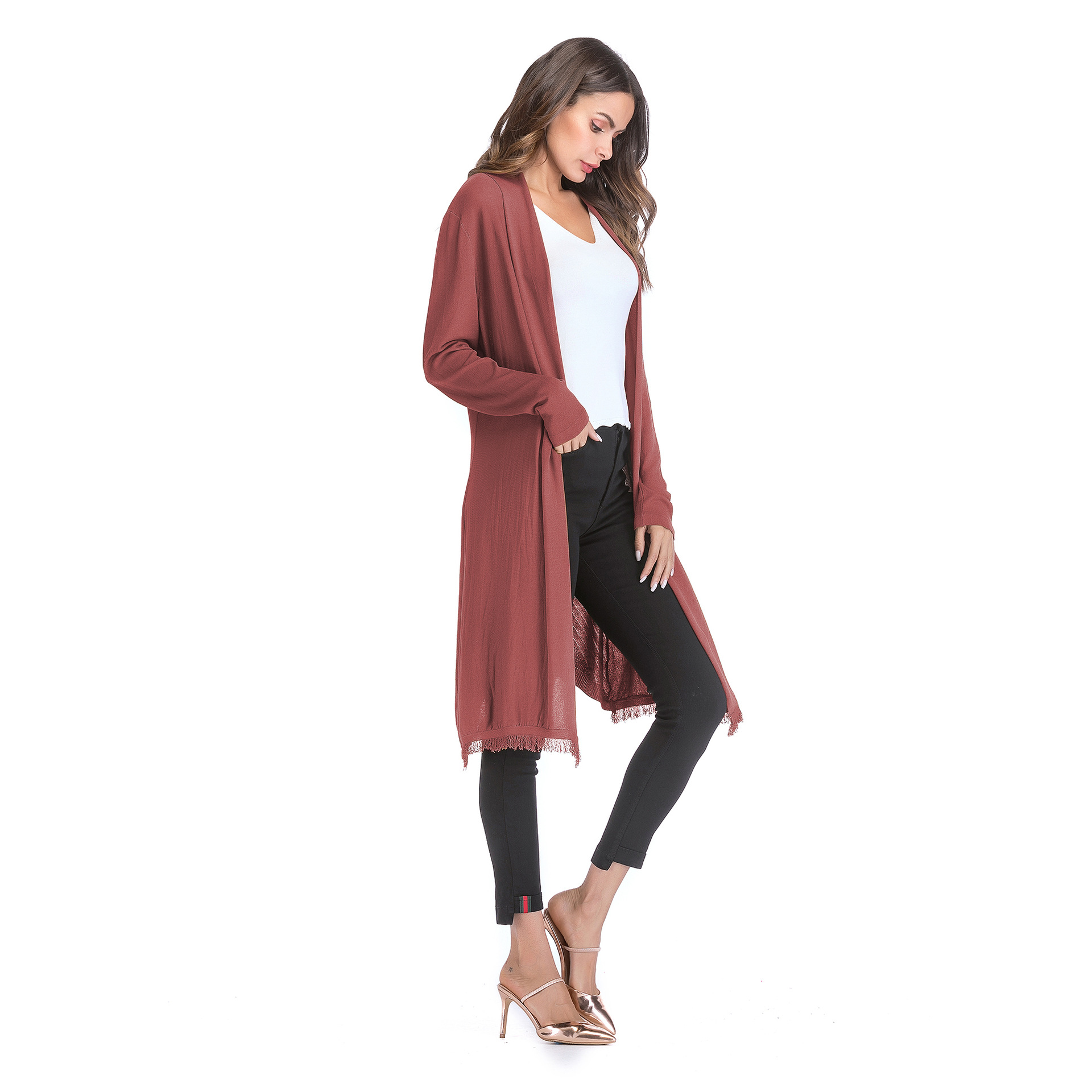 8b0f0eb90ed 2019 Long Cardigan Women Summer Sweaters 2018 Fashion Fall Jacket ...