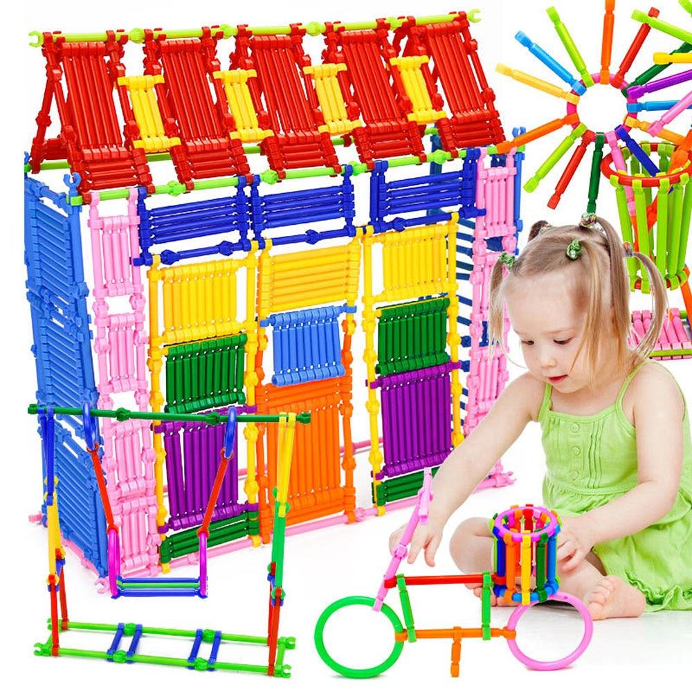 500 шт. волшебная палочка Магнитный конструктор construction set модель и строительство Пластик строительные блоки образовательные Игрушечные лошадки для детей