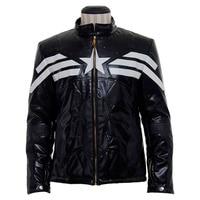 The Avengers Captain America Jacket Coat Adult Men's Leather Coat Top Costumes Custom Made