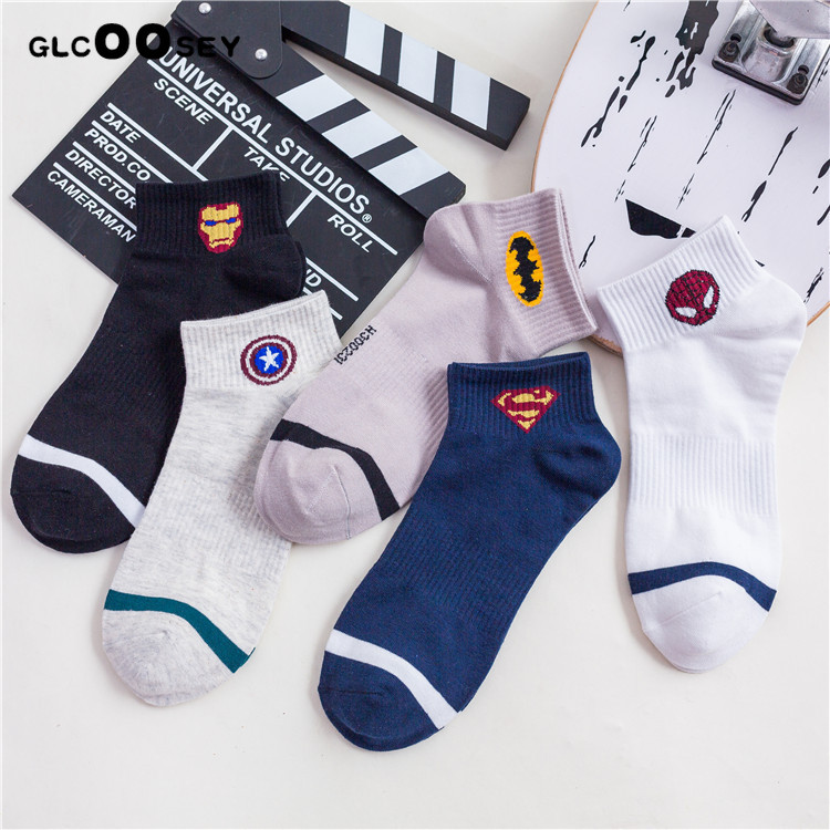 New Comics Heroes General Socks Cartoon Iron Man Captain America High Temperature Stitching Pattern Casual Men's Marvvl Socks