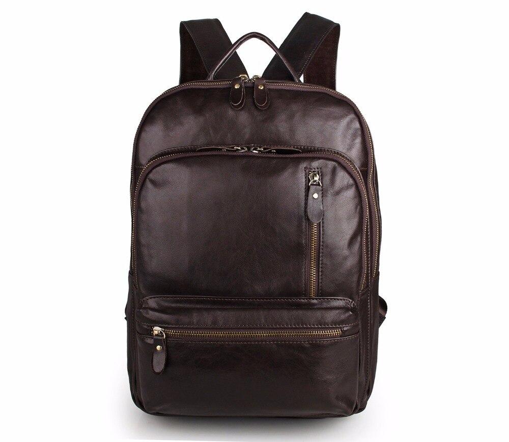 Augus Vintage Backpack Multi Funcational Backpack 100% Genuine Cow Leather Shoulder Bag For Girls  7313Q simline vintage 100
