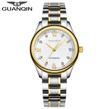 GUANQIN Watches Women Mechanical Watch Automatic Diamond Waterproof Sapphire Lady Wristwatch Rhinestone - discount item  65% OFF Women's Watches
