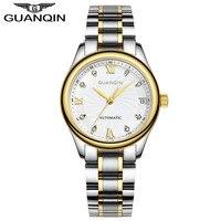 GUANQIN Watches Women Mechanical Watch Automatic Diamond Waterproof Watch Sapphire Lady Wristwatch Women Rhinestone Watches