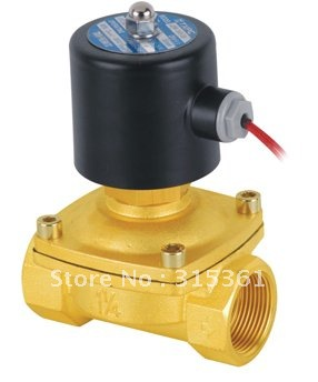 Free Shipping 2PCS 1 1/4 NPT 35mm Brass Normally Open 2-Way Solenoid Valve NBR Gas Air Water Oil 2W350-35-NO DC24V time electric valve ac110v 230 3 4 bsp npt for garden irrigation drain water air pump water automatic control systems