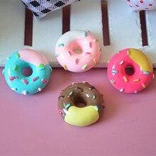 Tanduzi 20 шт. каваи Flatback Смола Кабошон моделирование пончик двойной цвет пончик кукольный домик декоративные части волос лук DIY