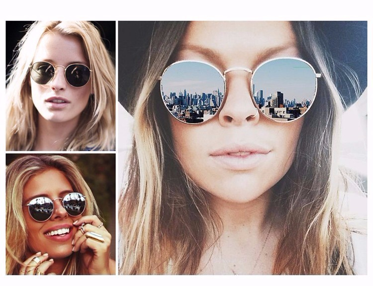 Luxury Brand Design Round Sunglasses Women Men Brand Designer Vintage Retro Mirror Sun Glasses For Women Female Ladies Sunglass (16)