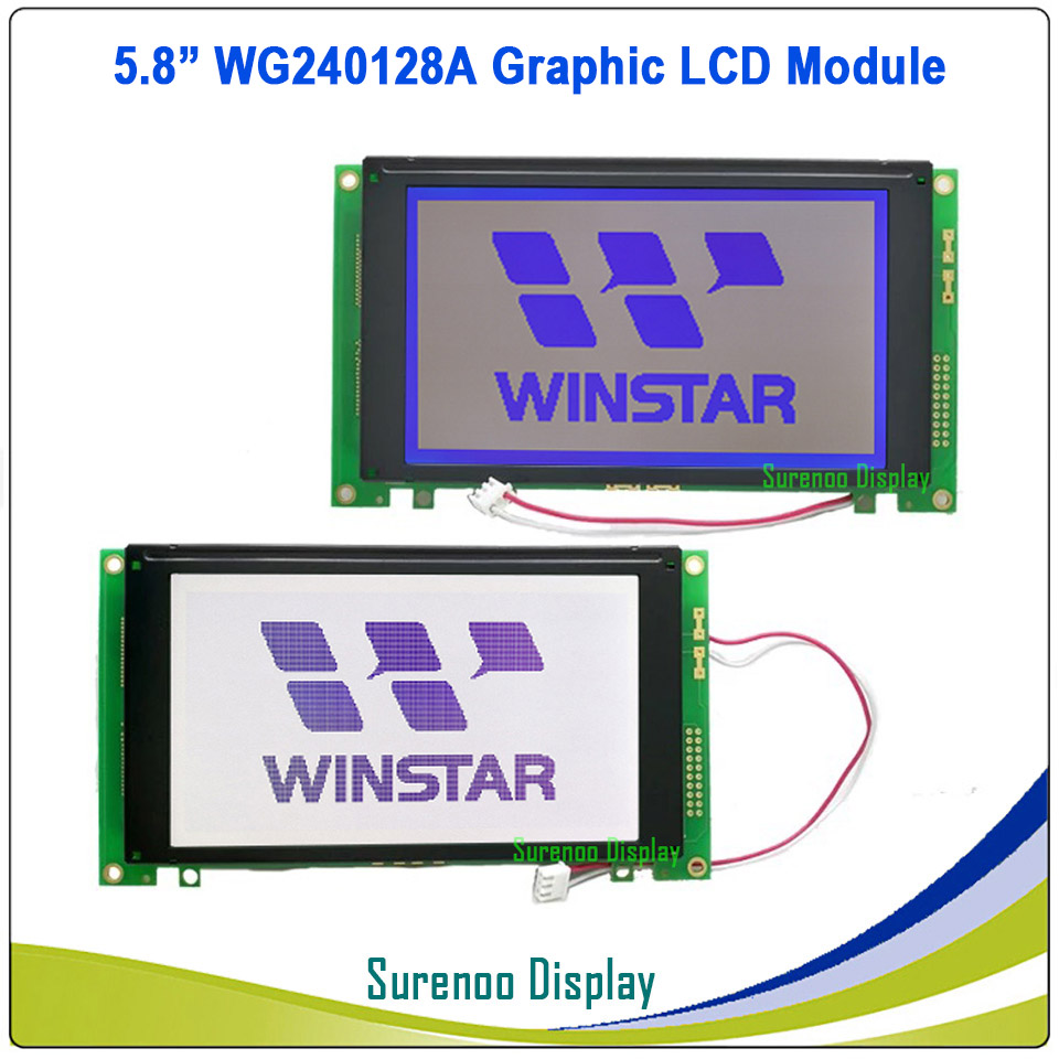 Brand New Original WINSTAR WG240128A 240128 240 128 Graphic Matrix LCD Module Display Screen Panel with