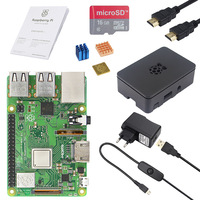 RS Raspberry Pi 3 Model B+ Starter kit+ABS Case+Power Adapter+Heat Sink+16G 32G SD Card+HDMI Cable for Raspberry Pi 3 Plus