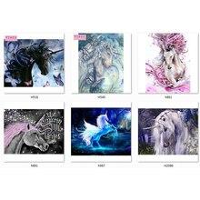 unicorn diamond painting 5d full square embroidery unicorns with LUXURY TOOL