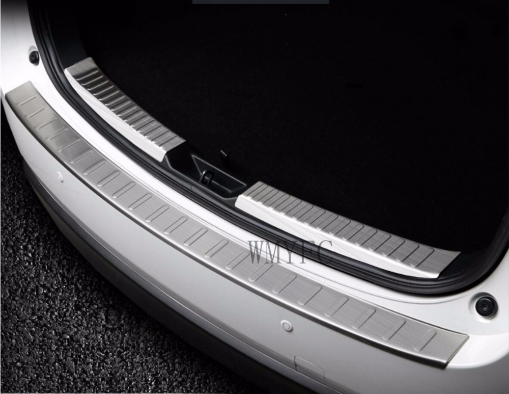 Car-covers stainless steel Rear Bumper Protector Sill Trunk Tread Plate Trim for New Mazda cx-5 cx 5 2017 2018 Car styling 1 stainless steel rear trunk sill inner outer scuff bumper protector plate cover trim for mazda cx 5 cx5 2nd gen 2017 2018