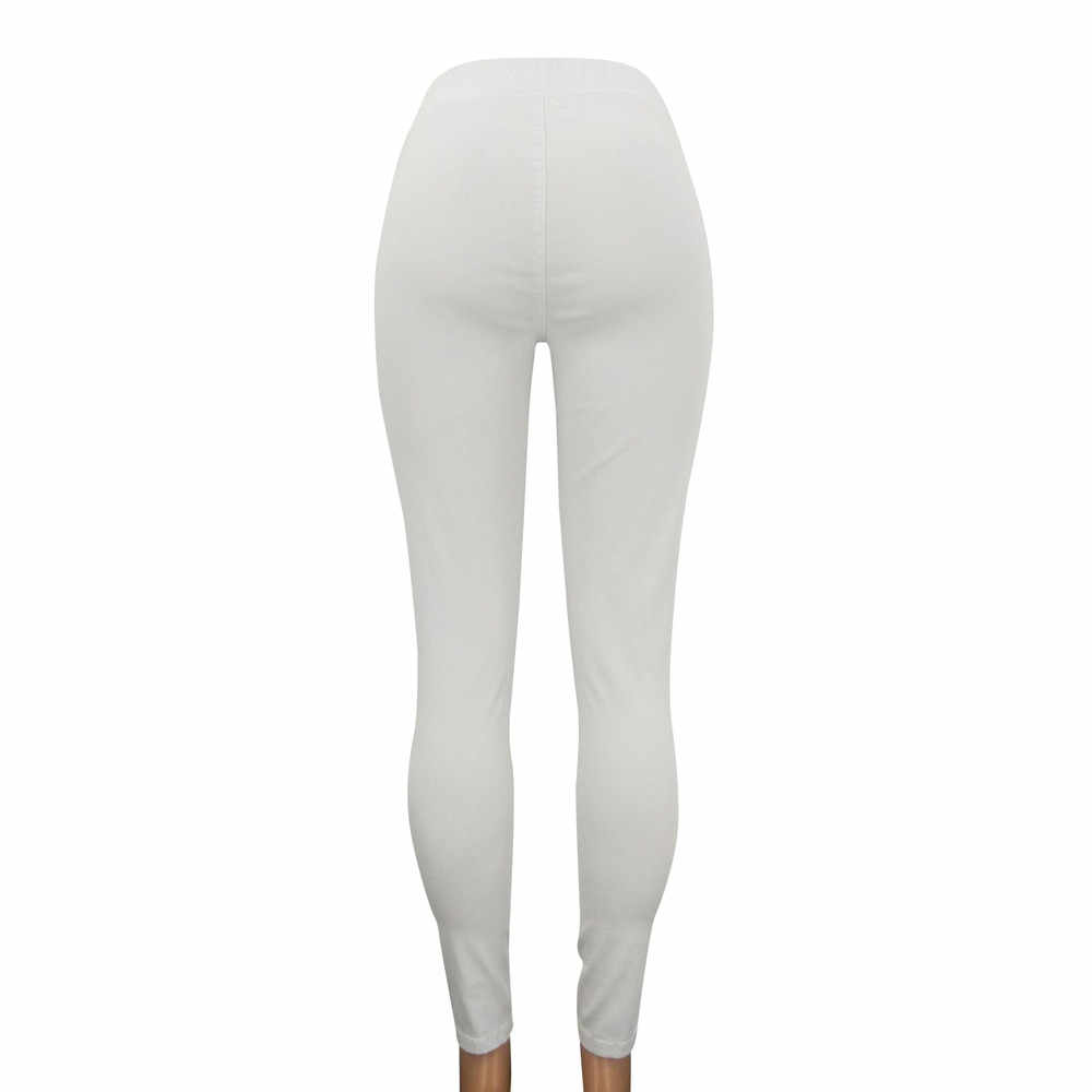 2019 Для женщин Высокая талия стрейч прямые джинсы леггинсы облегающие спортивные штаны брюки 3,18