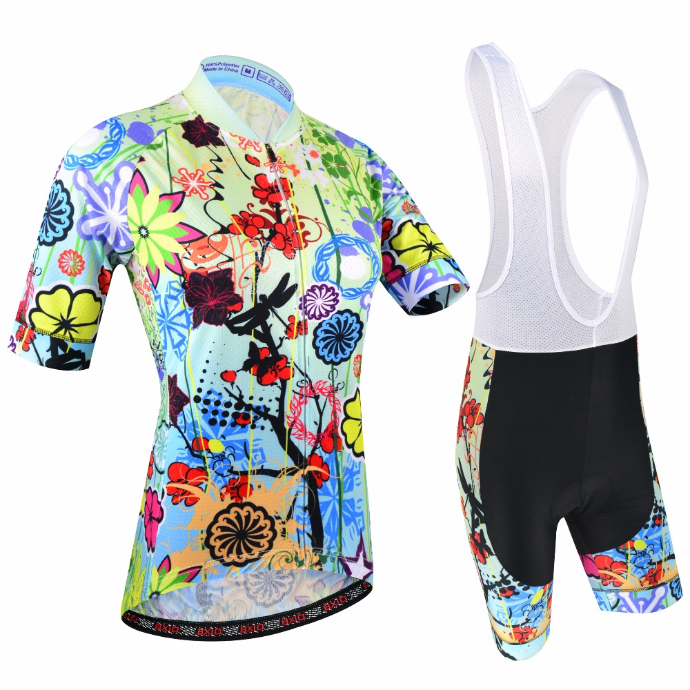 BXIO Women Cycling Clothing With Bib Shorts Double Lycra Flat Stitching For Cuff Of Sleeve And Shorts End Pro Cycling Jersey 187 free designs diy custom cycling jersey short sleeve and tight bib shorts combo cycling sets bike clothing for man women child
