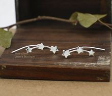 925 Sterling Silver Simple Women Stars Climber Crawler Earrings for Geometric Stud Jewelry Gifts 1 Pair