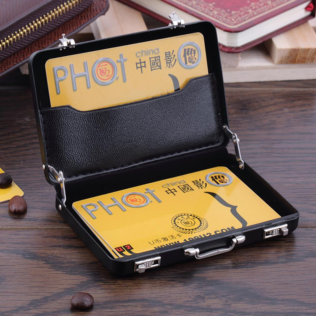Durable Mini Briefcase Business Card Case ID Holders Password ...