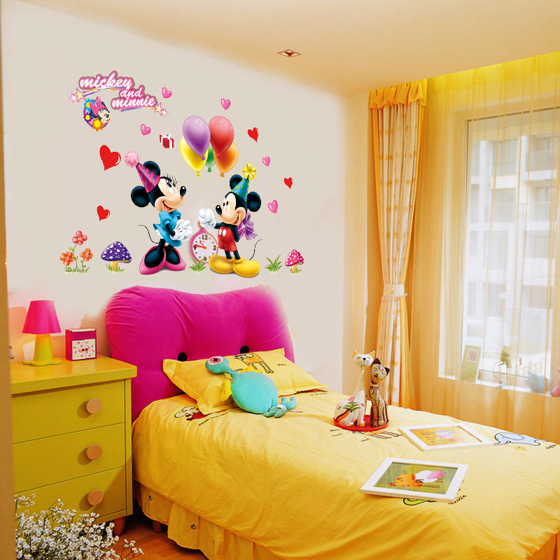 Mickey Mouse and Minnie Children Boys Girls Bedroom Wall Decals ...