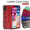 Komytoo For IPhone X Cover Case Luxury Genuine Python Skin Leather Back Cover Case Protect Snake