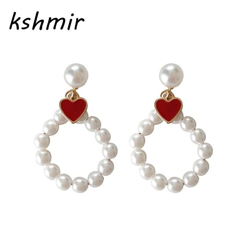 kshmir Fashion temperament pearl joker sweet girl who love fashion girl earrings ...