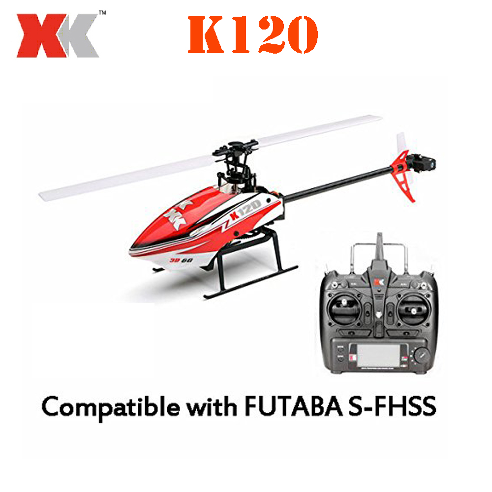 Original XK K120 Shuttle 6CH Brushless 3D/6G System RTF RC Helicopter xk k120 shuttle 6ch brushless 3d6g system rc helicopter rtf