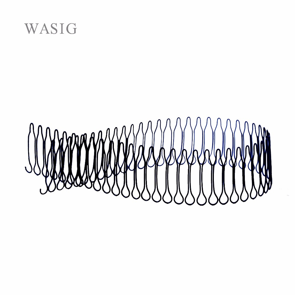 Cheapest Shipping (1 Piece, 55 Teeth/piece) Black Wig Combs For Wig Cap, Pony Tails And Hair Pieces