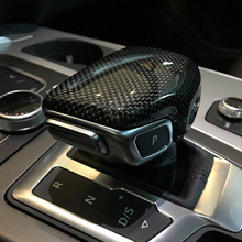 Free Shipping High quality Carbon Fiber Gear head Cover lever gear shift knob For Audi A4 A4L Q7 A5