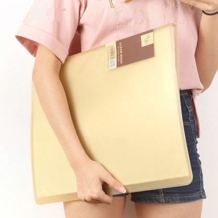 20/30/40/60 Pockets School Booklet A3 Clear File Organizer PVC Bag Book Office Organizer For Documents