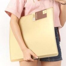 Livret scolaire, 20/30/40/60 poches, sac en PVC transparent de organisateur de livres A3 de bureau pour Documents