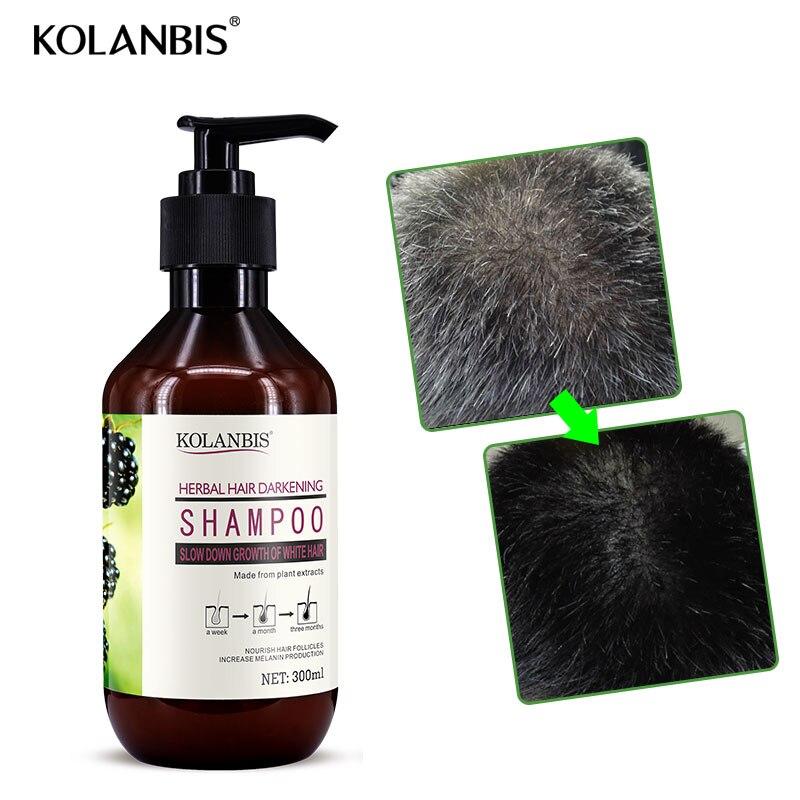 Grün natürliche pflegende professional hair pflege pflanzliche weiß haar shampoo für anti grau haar ernährung behandlung haar verdunkelung