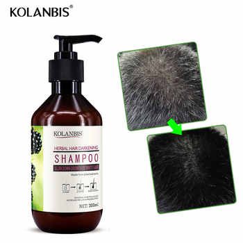 Green natural nourishing professional hair care herbal white hair shampoo for anti gray hair nutrition treatment hair darkening - DISCOUNT ITEM  35 OFF Beauty & Health