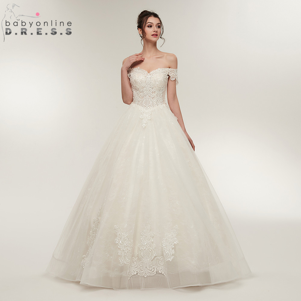 New Arrival Ball Gown Cap Sleeve Lace Wedding Dress  Sexy Open Back Lace Up Bridal Dress Robe De Mariee