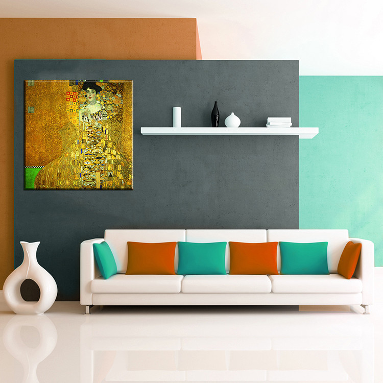 Paint Portrait of Adele Bloch Bauer I by Gustav Klimt wall painting for home decor oil painting art painting on canvas No Framed in Painting Calligraphy from Home Garden