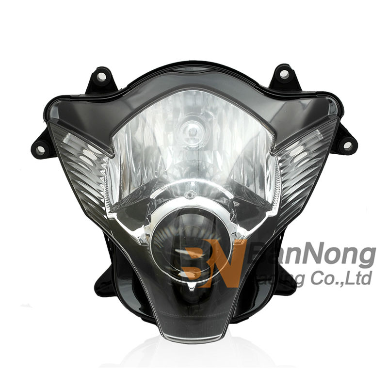 Free Shipping Motorcycle Front headlight Front headlamps assembly For SUZUKI GSXR600 GSXR750 2006-2007 K6 new motorcycle ram air intake tube duct for suzuki gsxr600 gsxr750 2006 2007 k6 abs plastic black