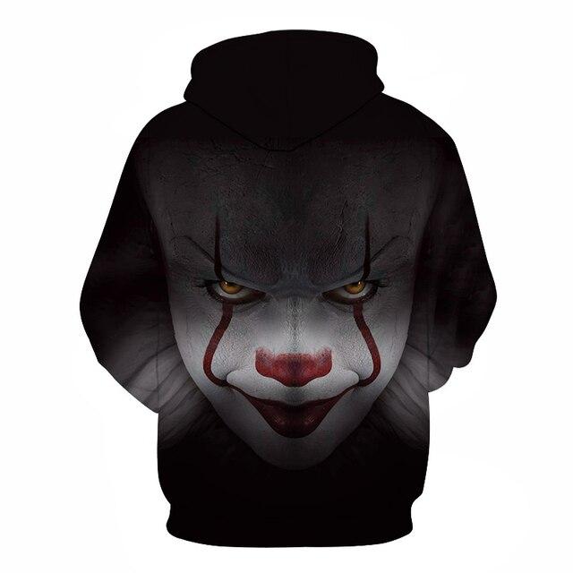 BZPOVB New Horror Movie Clown Hoodie 3d Skull Sweatshirt Plus Size S-6XL Sportswear Tracksuit Men Women Unisex Pullover 1