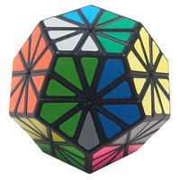 Qiji 76mm Chrysanthemum Megaminx Magic Cube Puzzle Cubes Educational Toys For Kids Children