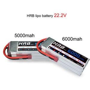 Image 4 - HRB RC Lipo Battery 2S 3S 4S 6S 11.1v 22.2v 5000mah 6000mah 3300mah 2200mah 4200mah 5200mah 7000mah Battery XT60 T Deans plug