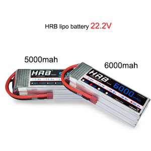Image 4 - HRB batería Lipo 2S 3S 4S 6S, 11,1 v, 22,2 mah, 5000mah, 6000mah, 3300mah, 2200mah, 4200mah, 5200mah, 7000mah, XT60 T, enchufe decanos