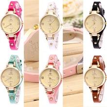 Для женщин Творческий тонкий ремешок наручные часы краткое Дизайн элегантность моды Lady часы кварцевые часы Relogio Оптовая reloj hombre 5N