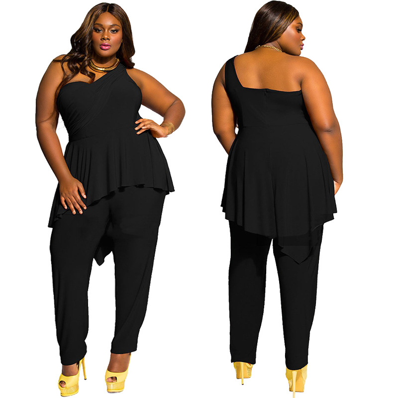 Aliexpresscom Buy Overalls For Women Elegant Long 3xl Plus Size