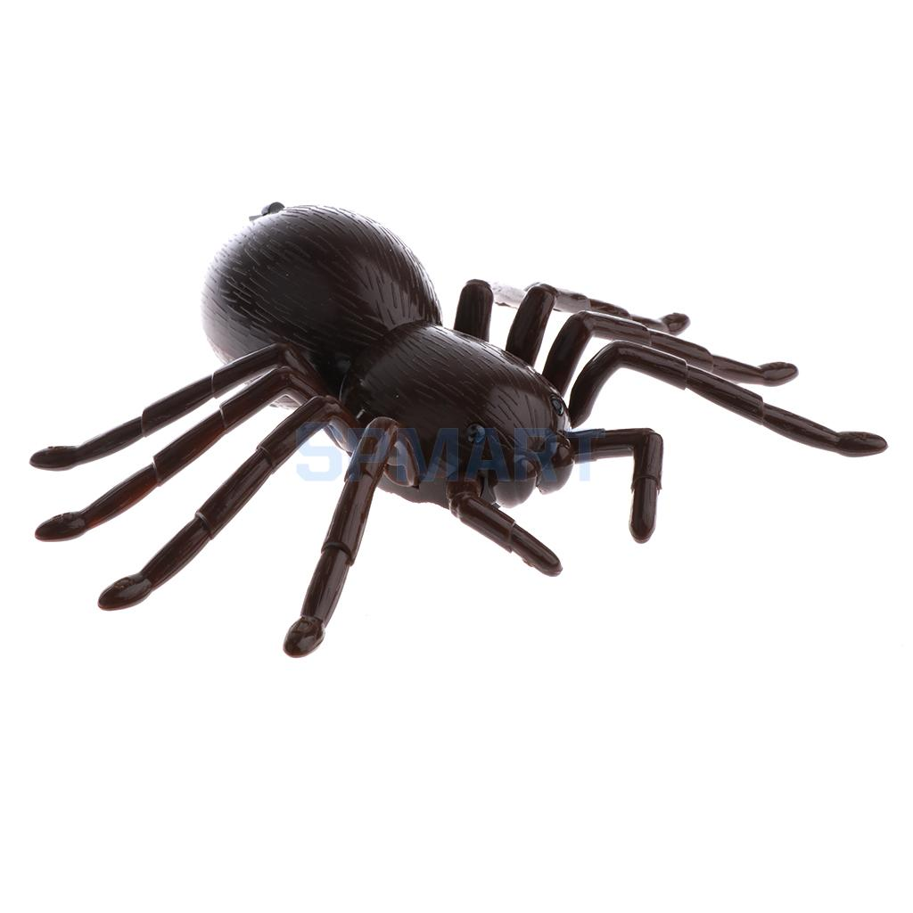RC Infrared Remote Control Spider Prank Toys Insects Joke Scary Trick Gag Party Halloween Xmas Gift Kids Friends Cat Toy Brown