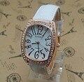 Горячая продажа GOgoey Кристалл Кожаный ремешок часы женщины дамы модные платья кварцевые наручные часы Relogios Feminino go001