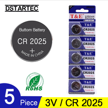 цена на 5pcs 30mAh Cell Coin Button Batteries CR2025 DL2025 BR2025 KCR2025 CR 2025 3V Lithium Battery For Watch Toys LED Light