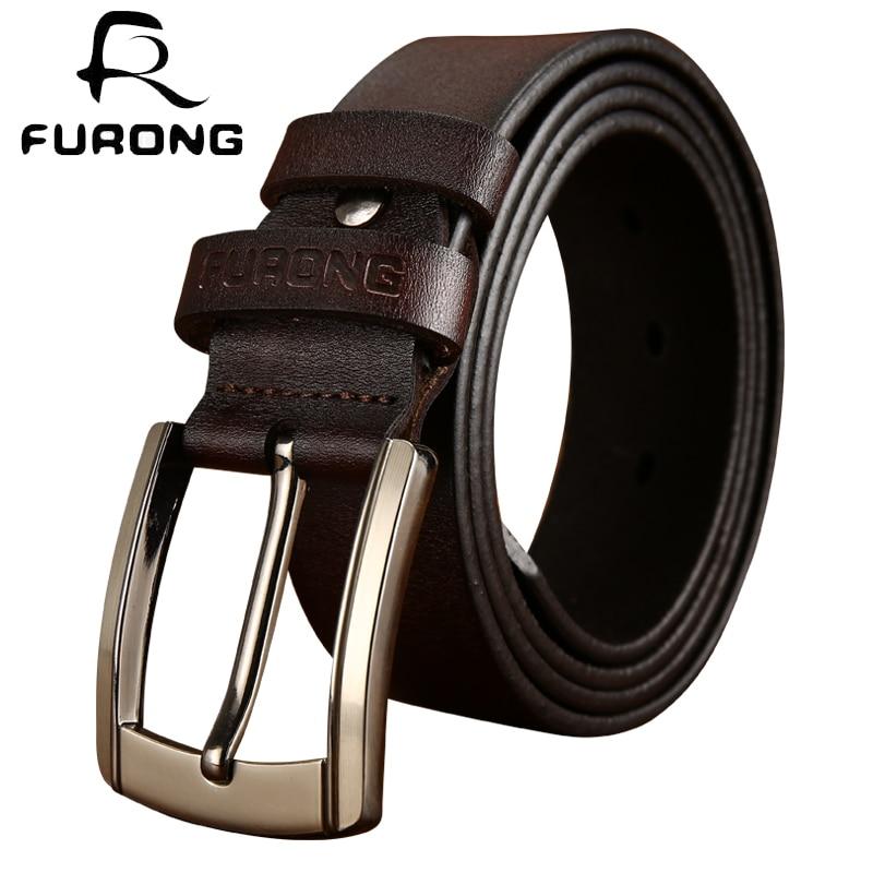 Designer Brand Male Cowhide   Belts   Genuine Leather Men   Belt   High Quality Wide Pin Buckle Cow Genuine Leather 100-135CM Vintage