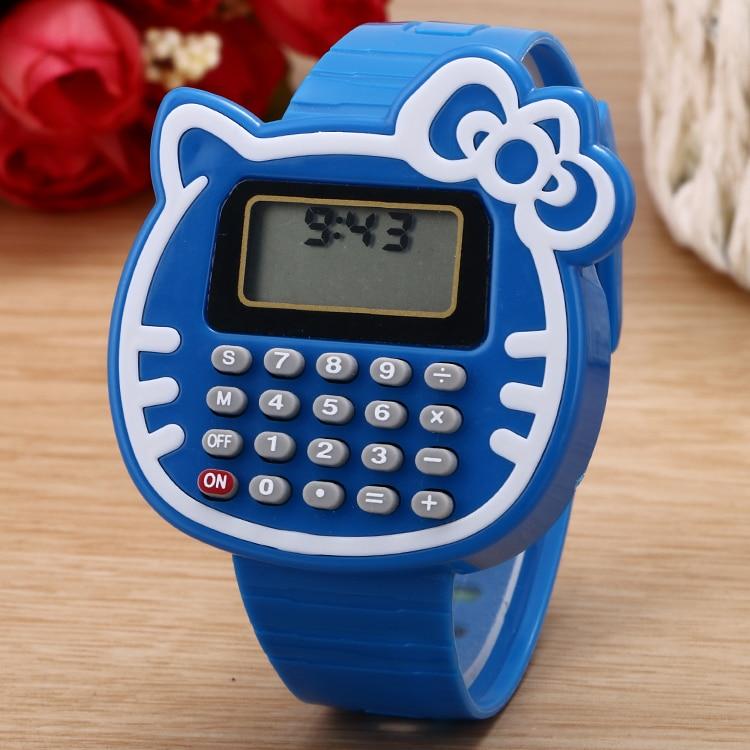 100pcslot New Arrival Cat Calculator Digital Watch Cute
