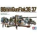 Tamiya 35017 1/35 German 88mm Gun Flak OHS 36/37 w/9 Figuras AFV Ks750 Militar Modelo de Montagem de Construção Kits