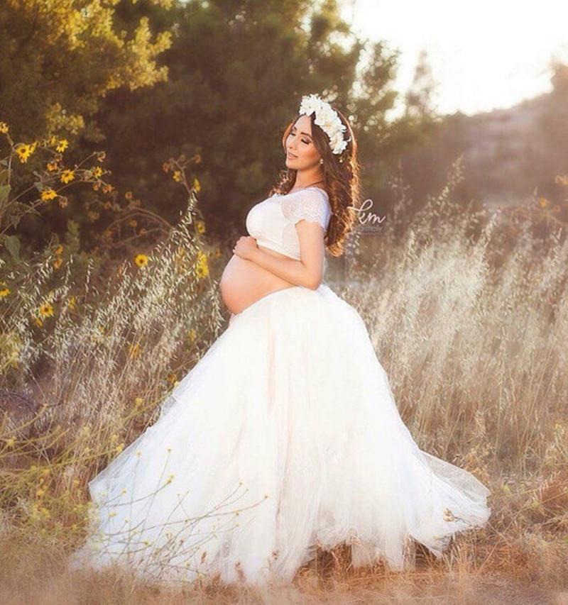 Maternity Tutu Skirt Maternity Photography Props Fashion  Maternity Ball Skrit Photography Props Lace Pregnancy Woman Photo Shot