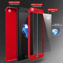 ZNP Luxury Hard 360 Full Cover Protection Case For iPhone 8 7 6 Plus 6s Phone Cases For iphone 6 6s 7 8 Case With Tempered Glass