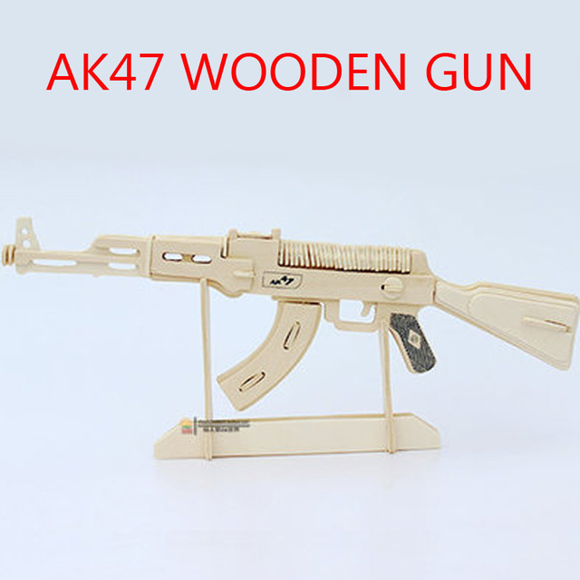 AK47 3D Wooden Puzzle model 3 d puzzles handmade assembled wood puzzles toy gifts For children