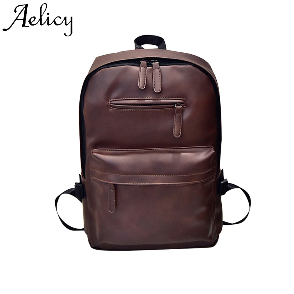 Aelicy Neutral Leather Backpack Laptop Satchel Travel School Rucksack Bag Travel Student Bag Backpack Flap Sport Phone PocketAelicy Neutral Leather Backpack Laptop Satchel Travel School Rucksack Bag Travel Student Bag Backpack Flap Sport Phone Pocket