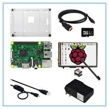 8 в 1 Raspberry Pi 3 Модель B доска + 3.5 дюймов ЖК-дисплей HDMI Сенсорный экран + чехол + Адаптеры питания + USB Мощность кабель + 16 ГБ TF карты