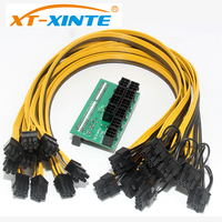 XT XINTE Server Computer Switch Power Converter 6Pin Cable Breakout Adapter Board 50CM18AWG Male To 6